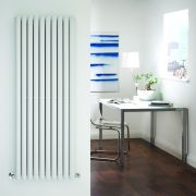Radiador de Diseño Vertical Doble - Blanco - 1600mm x 590mm x 78mm - 2273 Vatios - Revive