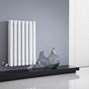 Radiador de Diseño Horizontal Doble - Blanco - 635mm x 415mm x 78mm - 652 Vatios - Revive