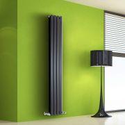 Radiador de Diseño Vertical Doble - Negro - 1600mm x 280mm x 86mm - 983 Vatios - Rombo