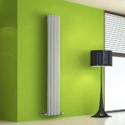Radiador de Diseño Vertical - Blanco - 1600mm x 280mm x 60mm - 630 Vatios - Rombo