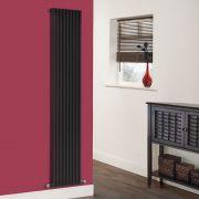 Radiador de Diseño Vertical - Negro - 1780mm x 342mm x 84mm - 1176 Vatios - Fin