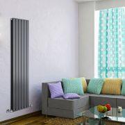 Radiador de Diseño Vertical Doble - Antracita - 1600mm x 420mm x 60mm - 1322 Vatios - Delta