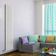 Radiador de Diseño Vertical Doble - Blanco - 1600mm x 350mm x 60mm - 1102 Vatios - Delta