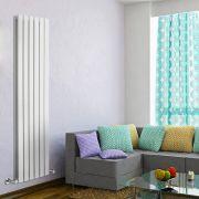Radiador de Diseño Vertical Doble - Blanco - 1600mm x 420mm x 60mm - 1322 Vatios - Delta