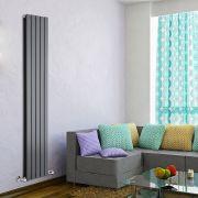Radiador de Diseño Vertical Doble - Antracita - 1780mm x 350mm x 60mm - 1236 Vatios - Delta