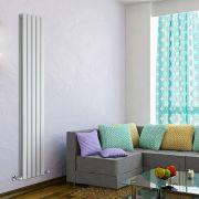 Radiador de Diseño Vertical Doble - Blanco - 1780mm x 350mm x 60mm - 1236 Vatios - Delta