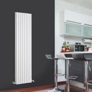 Radiador de Diseño Vertical Doble - Blanco - 1600mm x 472mm x 72mm - 1590 Vatios - Sloane