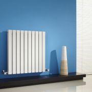 Radiador de Diseño Horizontal Doble - Blanco - 635mm x 600mm x 71mm - 933 Vatios - Sloane