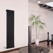 Radiador de Diseño Vertical - Negro - 1780mm x 472mm x 80mm - 1391 Vatios - Savy