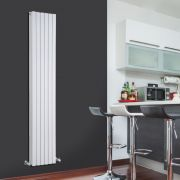 Radiador de Diseño Vertical Doble - Blanco - 1780mm x 354mm x 72mm - 1448 Vatios - Sloane