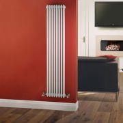 Radiador de Diseño Vertical Triple Tradicional - Blanco - 1800mm x 383mm x 100mm - 1558 Vatios - Regent