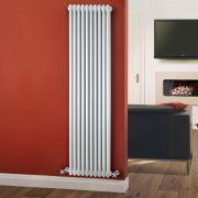 Radiador de Diseño Vertical Triple Tradicional - Blanco - 1800mm x 473mm x 100mm - 1948 Vatios - Regent