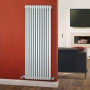 Radiador de Diseño Vertical Triple Tradicional - Blanco - 1500mm x 563mm x 100mm - 2081 Vatios - Regent