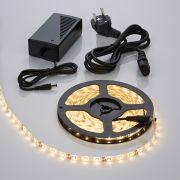 Tira de Luces LED de 5 Metros en Color Blanco Cálido con Alimentación Eléctrica