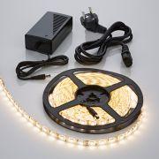 Tira de Luces LED de 5 Metros e Color Blanco Cálido de Conexión a la Alimentación Eléctrica