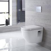 Inodoro WC  Moderno Suspendido 560x400x460mm con Tapa - Belstone