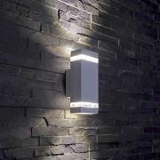 Apliqué de Pared Exterior Bidireccional con Diseño Cúbico Architect Gris