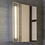 Armario con Espejo y LED para Cuarto de Baño 600x400mm - Bala