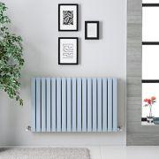 Radiador de Diseño Horizontal Doble - Azul Celeste  - 635mm x 1000mm x 71mm - 1022 Vatios - Sloane