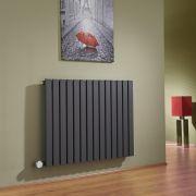 Radiador de Diseño Eléctrico Horizontal - Antracita - 635mm x 834mm x 54mm - Sloane
