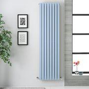 Radiador de Diseño Vertical Doble - Azul Celeste  - 1780m x 472mm x 72mm -  1931 Vatios - Sloane