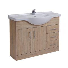 Mueble de Lavabo Efecto Roble 106x78x48cm
