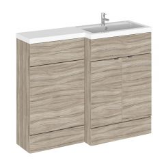 Mueble de Lavabo y WC Wengué de 1100mm Versión Derecha