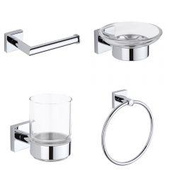 Conjunto de Accesorios Modernos Para Cuarto de Baño - Liso