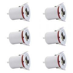 6 Focos Downlight LED de 8W