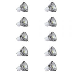 10x focos LED COB GU10 5W con Angulo de 90° equivalente a 50W