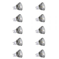10x Focos LED COB GU10 5W Angulo de 90° Equivalente a 50W Intensidad Luminosa Regulable