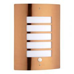 Apliqué de Pared Exterior Color Cobre con Sensor de Movimiento - Orleans