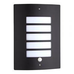 Apliqué de Pared Exterior con Estructura en Acero Inoxidable Color Negro con Sensor de Movimiento - Orleans