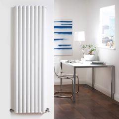 Radiador de Diseño Vertical Doble - Blanco - 1600mm x 472mm x 78mm - 1818 Vatios - Revive