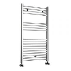 Radiador Toallero Curvo - Cromado - 1000mm x 500mm x 30mm - 296 Vatios - Ladder