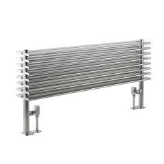 Radiador de Diseño Horizontal Doble - Cromado - 504mm x 1000mm x 146mm - 1292 Vatios - Parallel