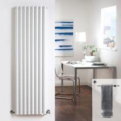Radiador de Diseño Vertical Doble - Blanco - 1780mm x 472mm x 105mm - 2311 Vatios - Revive