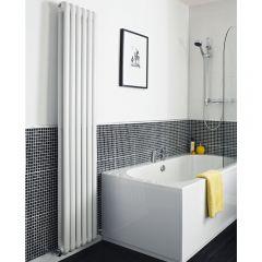 Radiador de Diseño Vertical Doble Tradicional - Blanco - 1800mm x 383mm x 80mm - 1489 Vatios - Saffre