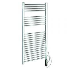 Radiador Toallero Eléctrico Plano - Cromado - 1200mm x 600mm x 30mm - Ladder