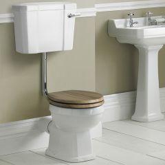 Pack de WC Tradicional con Inodoro de Salida Horizontal Cisterna y Tapa