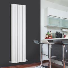 Radiador de Diseño Vertical Doble - Blanco - 1780mm x 472mm x 72mm - 1930 Vatios - Sloane