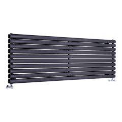 Radiador de Diseño Horizontal Doble - Negro - 590mm x 1600mm x 78mm - 1881 Vatios - Revive