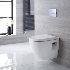 Inodoro WC  Moderno Suspendido 560x400x460mm con Tapa de WC Soft Close- Belstone