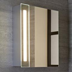 Armario con Espejo LED y Enchufe Integrado para Cuarto de Baño 600x400mm - Bala
