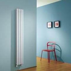 Radiador de Diseño Eléctrico Vertical Doble - Blanco - 1600mm x 236mm x 78mm -  2 Elementos de 600W  - Revive