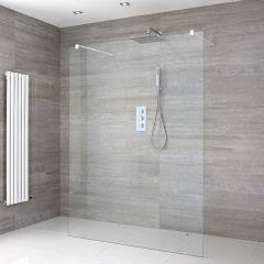 kit de ducha de obra con mampara de ducha a ras del suelo de 1200mm con - Duchas De Obra