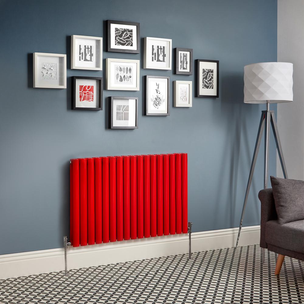 Radiador de Diseño Horizontal Doble - Rojo - Revive - Disponible en Distintas Medidas