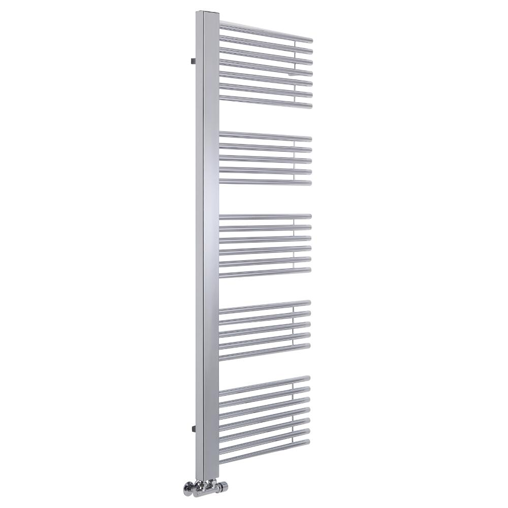 Radiador Toallero de Diseño Vertical -Cromado - 1600mm x 600mm - 559 Vatios - Bosa