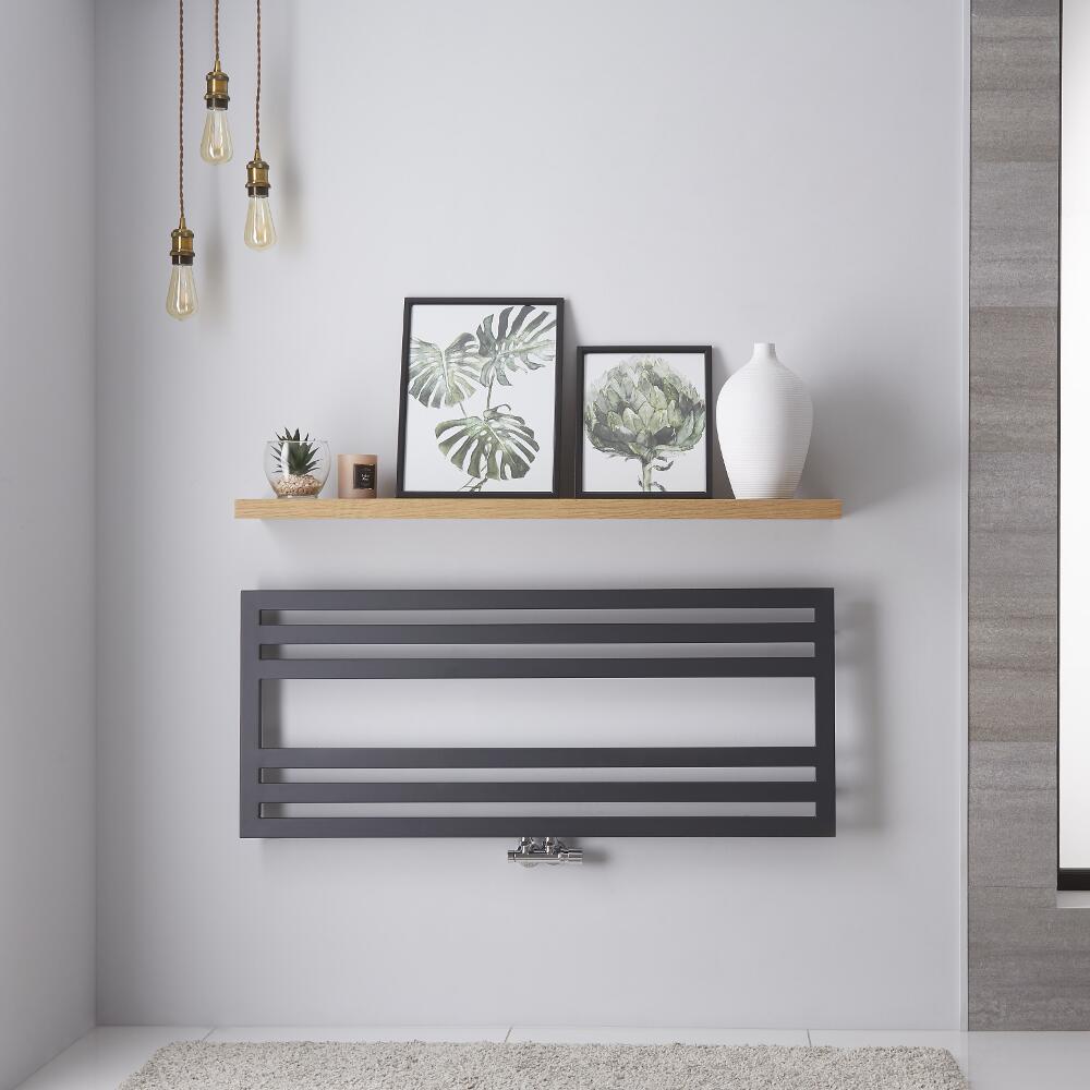 Radiador Toallero de Diseño Horizontal - Cuarzo mineral - 500mm x 1200mm - 582 Vatios - Ponza