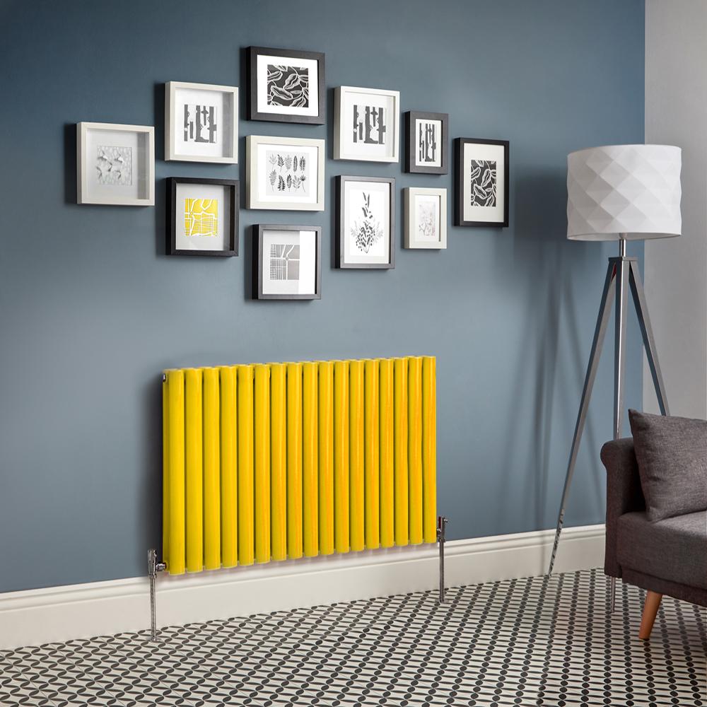 Radiador de Diseño Horizontal Doble - Amarillo - Revive - Disponible en Distintas Medidas